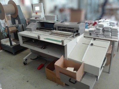 RILECART WB-450. Age 2014. CE Marked. Semiautomatic double Wire binding machine for calendars & catalogues.